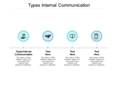Types Internal Communication Ppt PowerPoint Presentation Pictures Templates Cpb