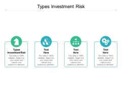 Types Investment Risk Ppt PowerPoint Presentation Outline Slide Cpb