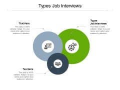 Types Job Interviews Ppt PowerPoint Presentation Pictures Shapes Cpb