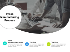 Types Manufacturing Process Ppt PowerPoint Presentation Show Icon Cpb