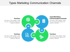 Types Marketing Communication Channels Ppt PowerPoint Presentation Show Graphics Download Cpb