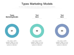 Types Marketing Models Ppt PowerPoint Presentation Inspiration Show Cpb