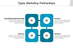 Types Marketing Partnerships Ppt PowerPoint Presentation File Graphics Tutorials Cpb