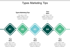 Types Marketing Tips Ppt PowerPoint Presentation Slides Design Ideas Cpb