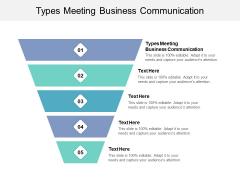 Types Meeting Business Communication Ppt PowerPoint Presentation Portfolio Design Ideas Cpb