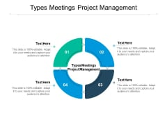 Types Meetings Project Management Ppt PowerPoint Presentation Infographics Example Introduction Cpb Pdf