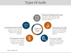 Types Of Audit Ppt PowerPoint Presentation Icon Influencers