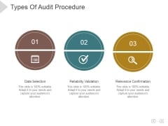 Types Of Audit Procedure Ppt PowerPoint Presentation Background Designs