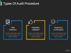 Types Of Audit Procedure Ppt PowerPoint Presentation Portfolio Designs