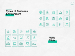 types of business environment icons slide ppt powerpoint presentation file pictures