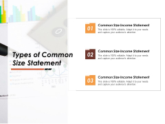 Types Of Common Size Statement Ppt PowerPoint Presentation Model Example