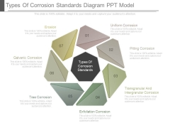 Types Of Corrosion Standards Diagram Ppt Model