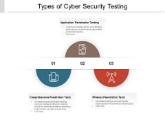 Types Of Cyber Security Testing Ppt PowerPoint Presentation Gallery Portfolio