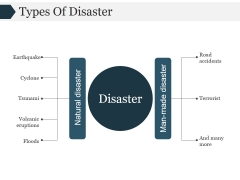 Types Of Disaster Template 2 Ppt PowerPoint Presentation Show