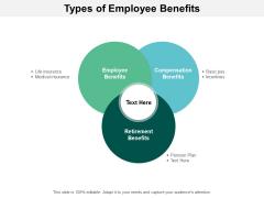 Types Of Employee Benefits Ppt PowerPoint Presentation Portfolio Icon
