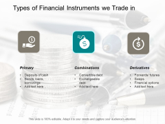 Types Of Financial Instruments We Trade In Ppt Powerpoint Presentation Professional Diagrams
