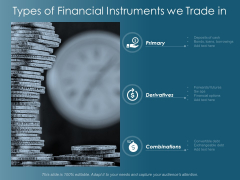 Types Of Financial Instruments We Trade In Ppt Powerpoint Presentation Styles Design Inspiration