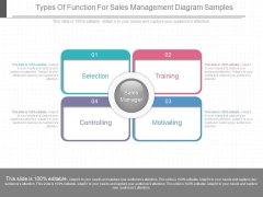 Types Of Function For Sales Management Diagram Samples