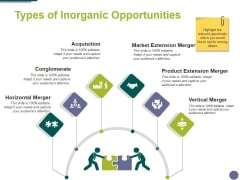 Types Of Inorganic Opportunities Template 1 Ppt PowerPoint Presentation Outline Themes