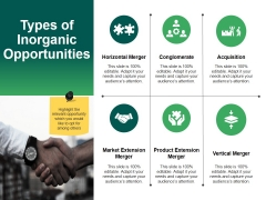 Types Of Inorganic Opportunities Template 2 Ppt PowerPoint Presentation Infographics Example
