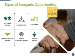 Types Of Inorganic Opportunities Template 2 Ppt PowerPoint Presentation Pictures Layout Ideas