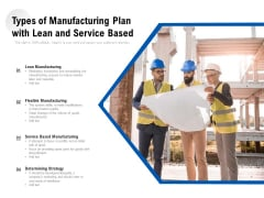Types Of Manufacturing Plan With Lean And Service Based Ppt PowerPoint Presentation Gallery Portrait PDF