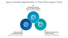 Types Of Market Segmentation In Three Piece Jigsaw Circle Portrait PDF