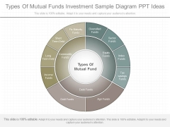 Types Of Mutual Funds Investment Sample Diagram Ppt Ideas