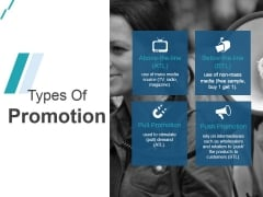 Types Of Promotion Ppt PowerPoint Presentation Deck