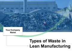 Types Of Waste In Lean Manufacturing Ppt PowerPoint Presentation Complete Deck With Slides