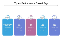 Types Performance Based Pay Ppt PowerPoint Presentation Slides Icons Cpb