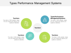 Types Performance Management Systems Ppt PowerPoint Presentation Layouts Portrait Cpb