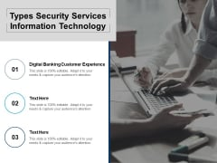 Types Security Services Information Technology Ppt PowerPoint Presentation Summary Backgrounds Cpb