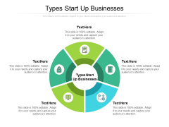 Types Start Up Businesses Ppt PowerPoint Presentation Pictures Rules Cpb