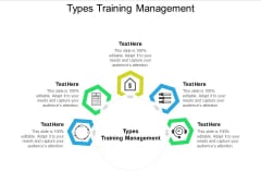 Types Training Management Ppt PowerPoint Presentation Icon Graphics Cpb