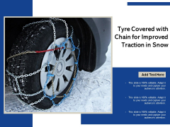 Tyre Covered With Chain For Improved Traction In Snow Ppt PowerPoint Presentation Layouts Example Introduction PDF