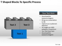 T-shaped Blocks To Specific Process Ppt Business Plan PowerPoint Slides