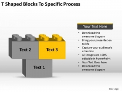 T-shaped Blocks To Specific Process Ppt Business Plans Examples PowerPoint Slides