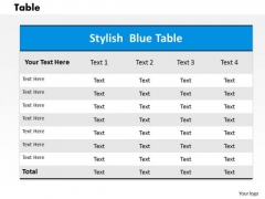 Table PowerPoint Presentation Template