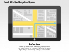 Tablet With Gps Navigation System PowerPoint Template