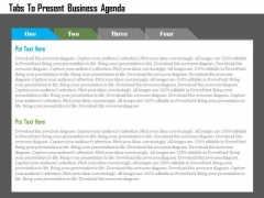 Tabs To Present Business Agenda Presentation Template