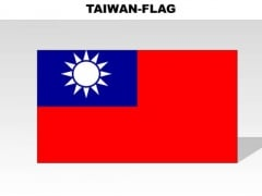 Taiwan Country PowerPoint Flags