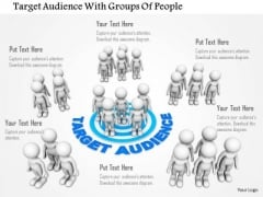 Target Audience With Groups Of People PowerPoint Templates