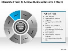 Tasks To Achieve Business Outcome 8 Stages Ppt Example Of Good Plan PowerPoint Slides