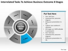 Tasks To Achieve Business Outcome 8 Stages Template Of Plan PowerPoint Slides