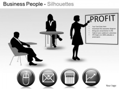 Team Business People Silhouettes PowerPoint Slides And Ppt Diagram Templates