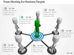 Team Meeting For Business Targets PowerPoint Templates