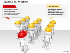 Team Of 3d Workers PowerPoint Templates