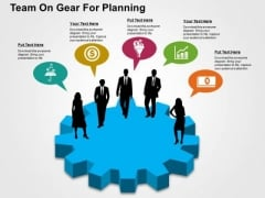 Team On Gear For Planning PowerPoint Templates