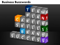 Team Plan Career Skills Brands Success PowerPoint Templates